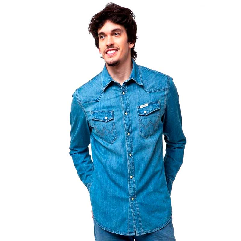 Camisa Wrangler Masculina Country Jeans 27MW60166