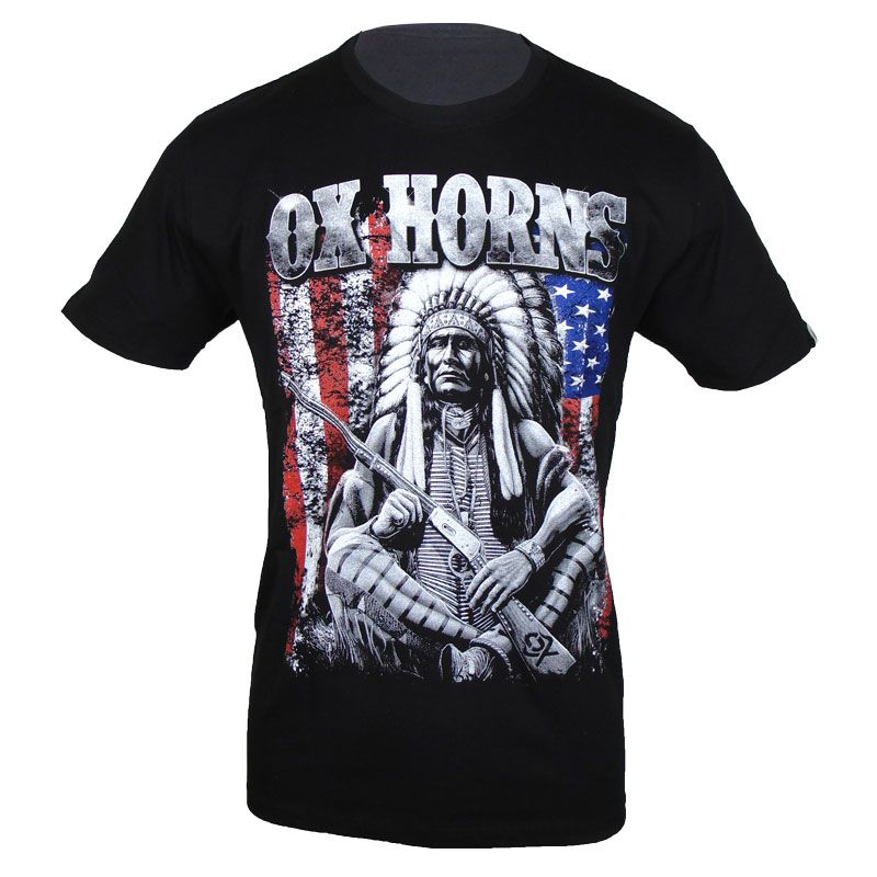 Camiseta Country Masculina Indian Ox Horns