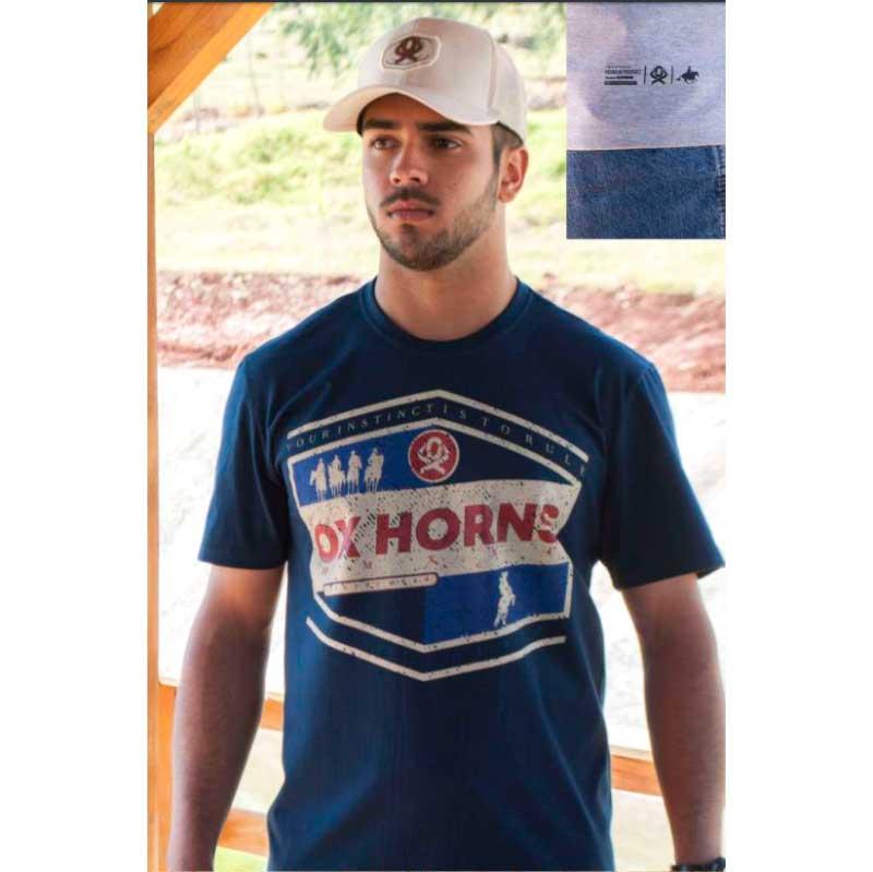 Camiseta Country Masculina Ox Horns Marinho1283