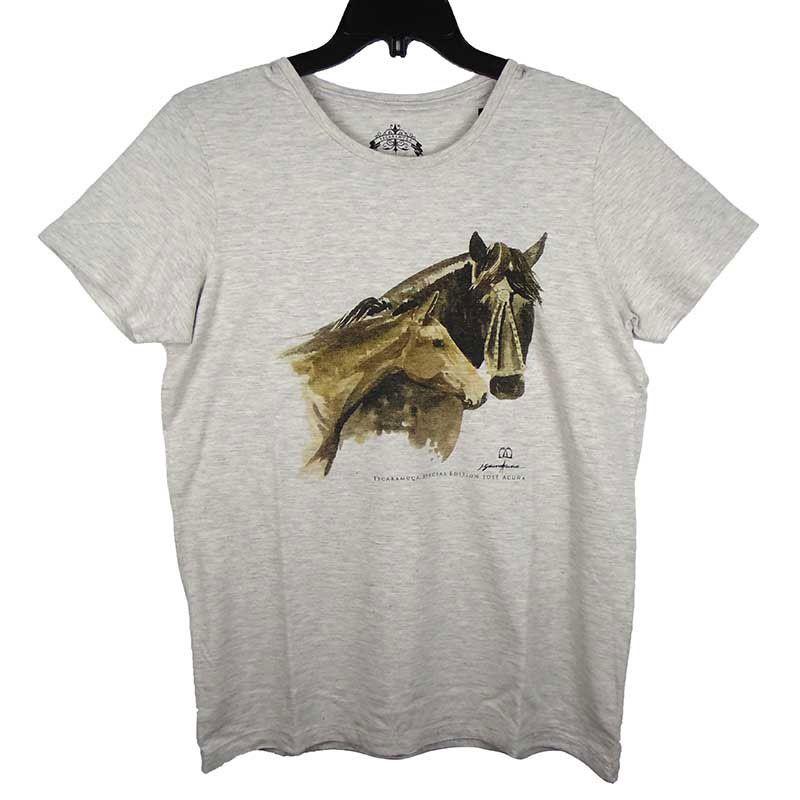 Camiseta Escaramuça Masculina Cinza Mescla