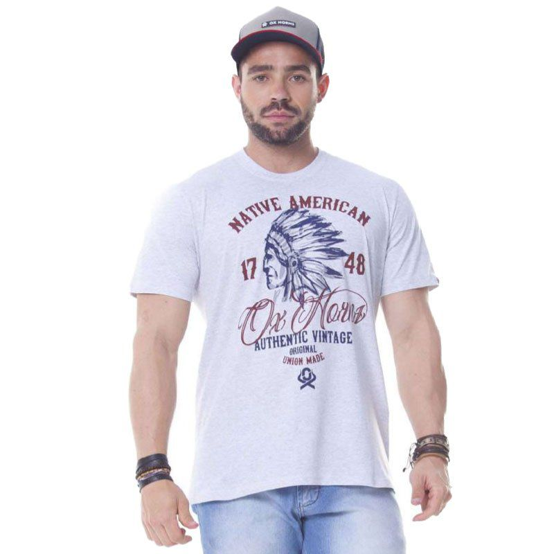 Camiseta Masculina Ox Horns Native American 1134