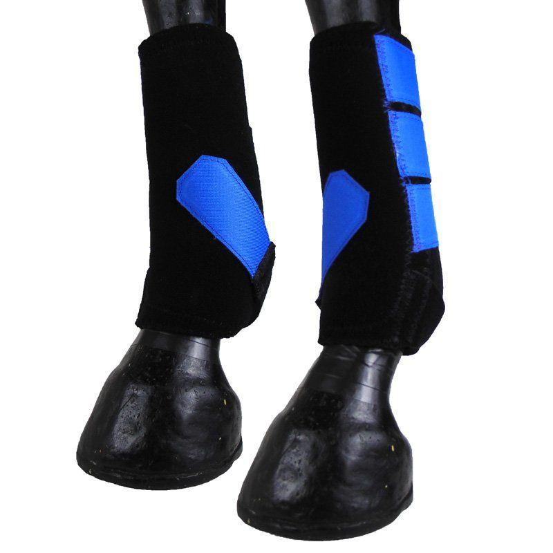 Caneleira Para Cavalo Show Horse Azul Level 3