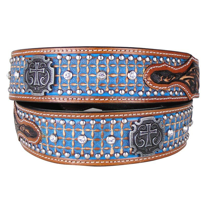 Cinto Country Masculino Arizona Belts Turquesa