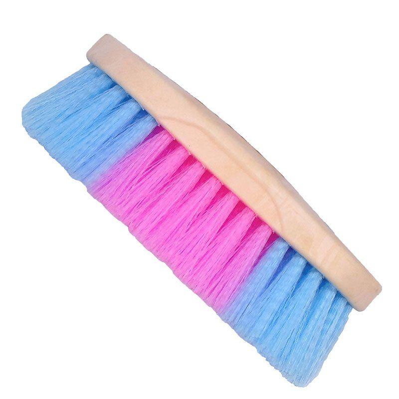 Escova para Cavalo Colorida Azul e Rosa