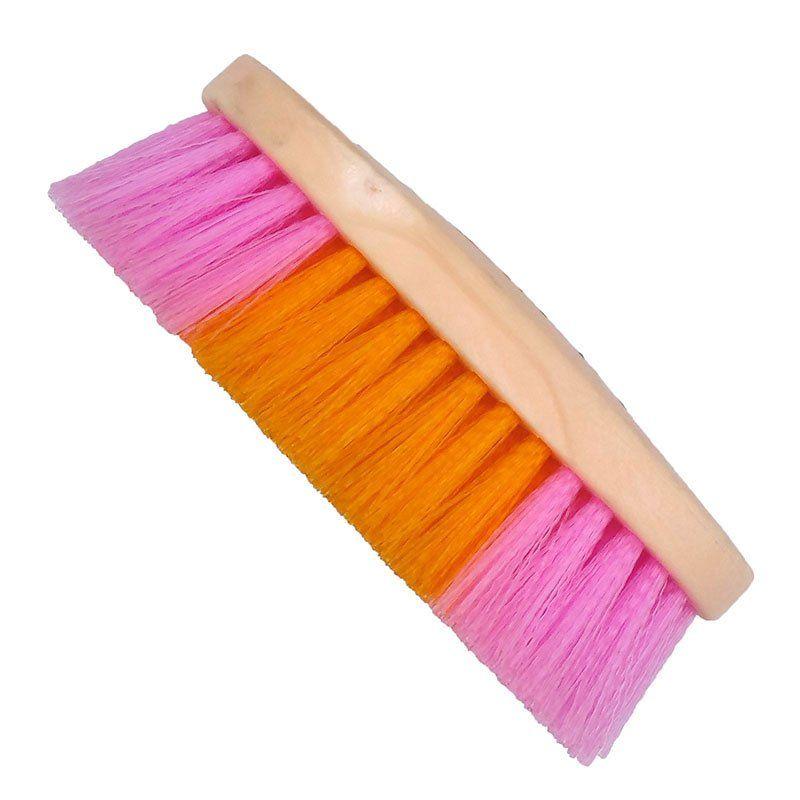 Escova para Cavalo Colorida Laranja e Rosa