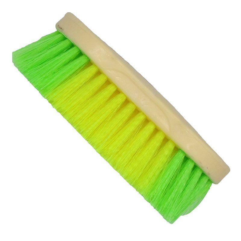 Escova para Cavalo Colorida Verde e Amarela