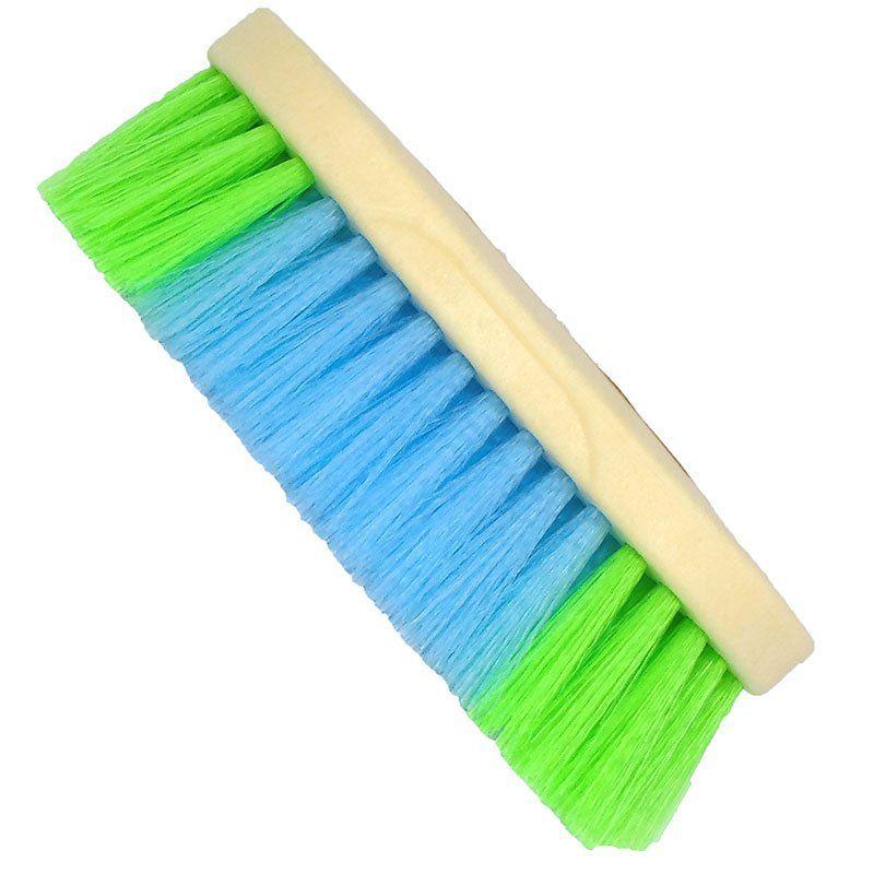 Escova para Cavalo Colorida Verde e Azul