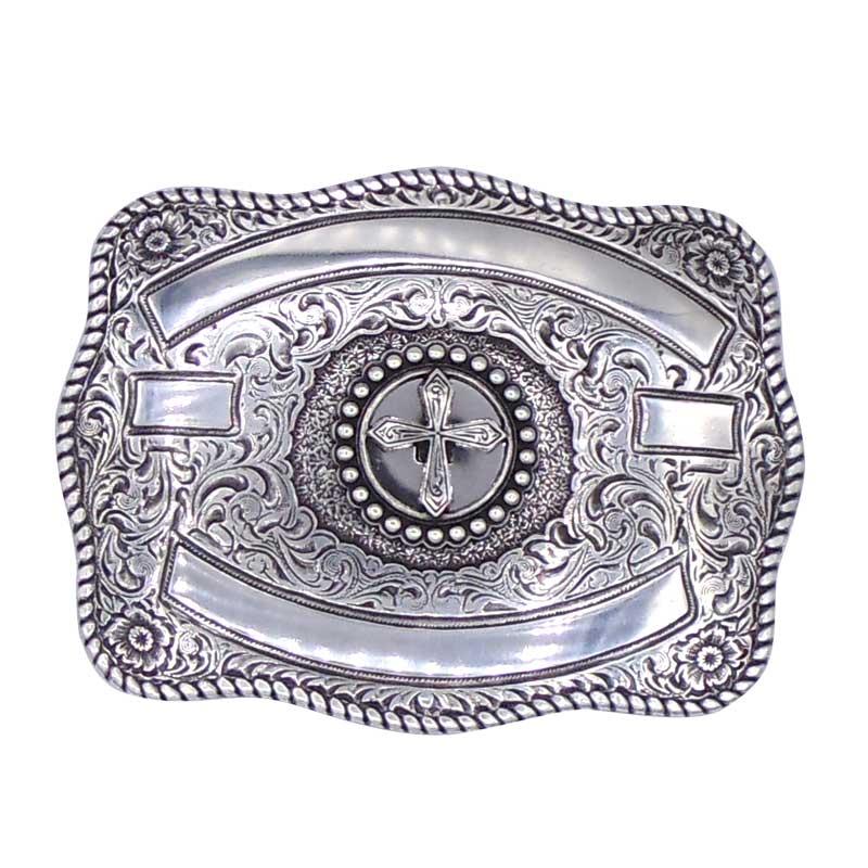Fivela Country Masculina Cruz Silver 380745