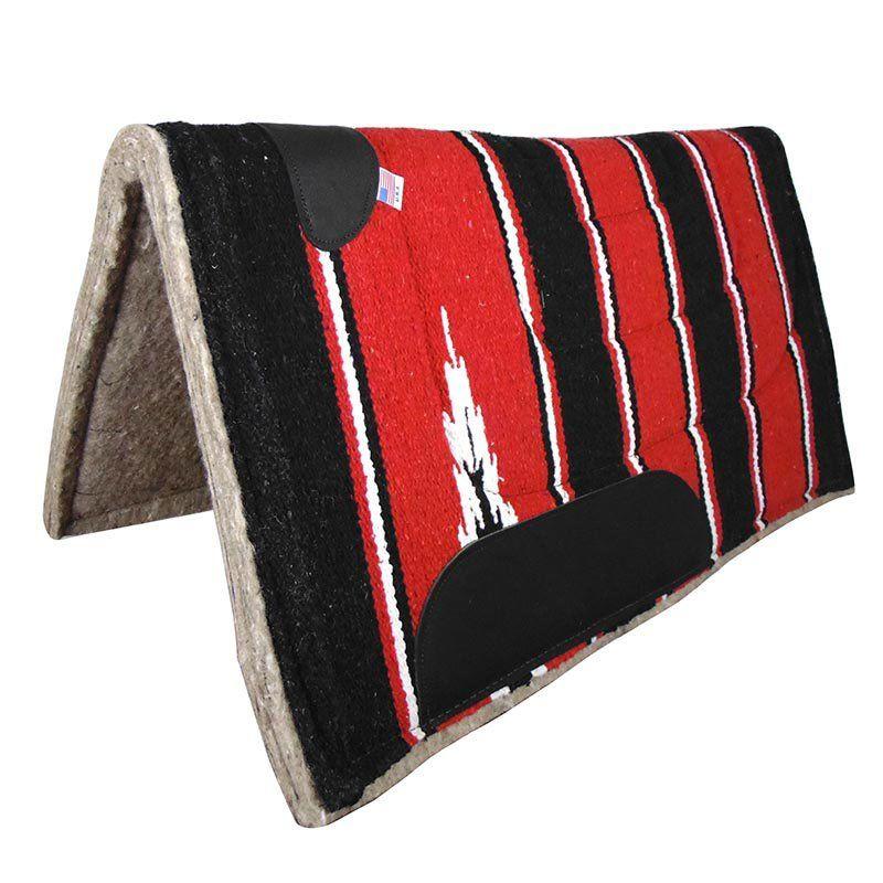 Manta Para Cavalo de Feltro Navajo Vermelha