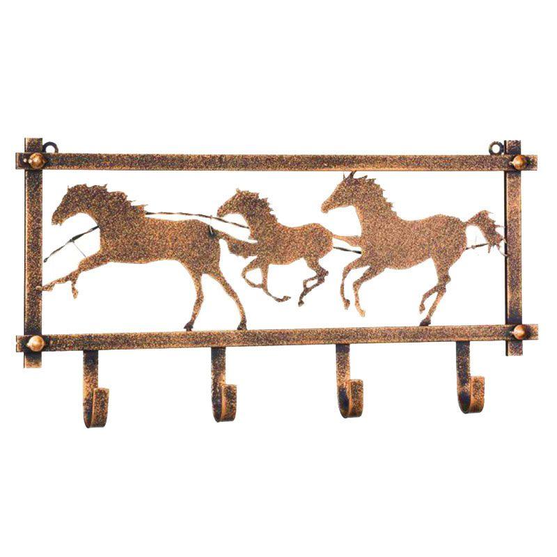 Pendurador Decorativo com 4 Ganchos Dourado