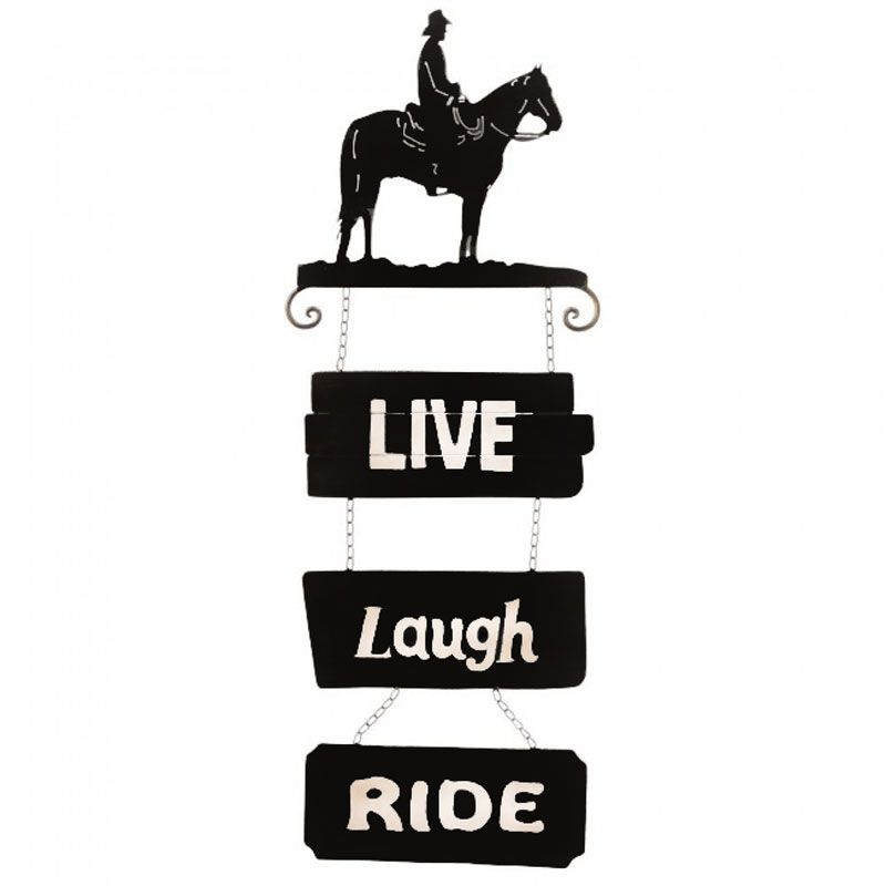 Placa Live Laugh Ride Importada
