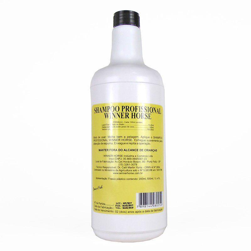 Shampoo Para Cavalo Professional Winner Horse 1 Litro