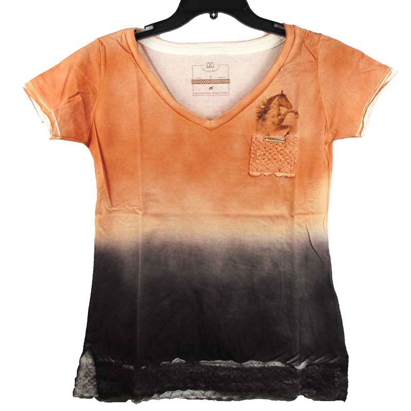 T-shirt Country Escaramuça Laranja