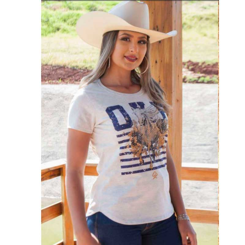 T-Shirt Country Ox Horns Cinza 6110