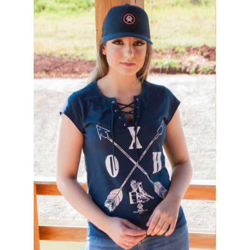 T-Shirt Feminina Ox Horns Marinho 6107