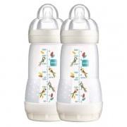 2x First Bottle Mamadeira Branca de 260ml