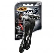 Aparelho De Barbear Bic Comfort 3 Black Night c\ 2 Unidades