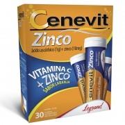 Cenevit Vitamina C 1g com Zinco 10mg com 30 Comprimidos Efervescentes