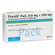 Floratil Pack 250mg + 200mg com 6 Cápsulas