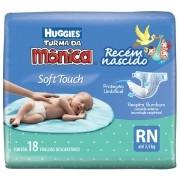 Fralda Huggies Turma da Mônica Soft Touch Recém Nascido c\ 18 fraldas