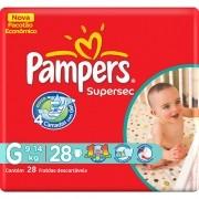 Fralda Pampers Supersec Tamanho G 28 fraldas