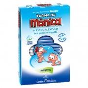 Hastes Flexiveis Huggies Turma da Monica  com 75 Unidades