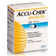 Lancetas Accu-Chek Multiclix com 24 Unidades