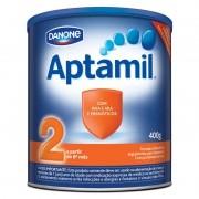 Leite Aptamil 2 Fórmula Infantil Com Ferro Para Lactentes 400g