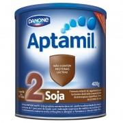 Leite Aptamil Soja 2 Fórmula Infantil Com Ferro Para Lactentes - 400g