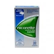 Nicorette 2mg Icemint com 30 Tabletes Mastigáveis
