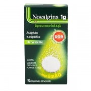 Novalgina 1g com 10 Comprimidos Efervescentes Sabor Limao