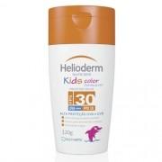 Protetor Solar Helioderm Suncare Kids Color Cheirinho de UVA FPS 30 com 120g