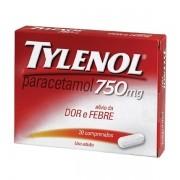 Tylenol Paracetamol 750mg com 20 Comprimidos Revestidos