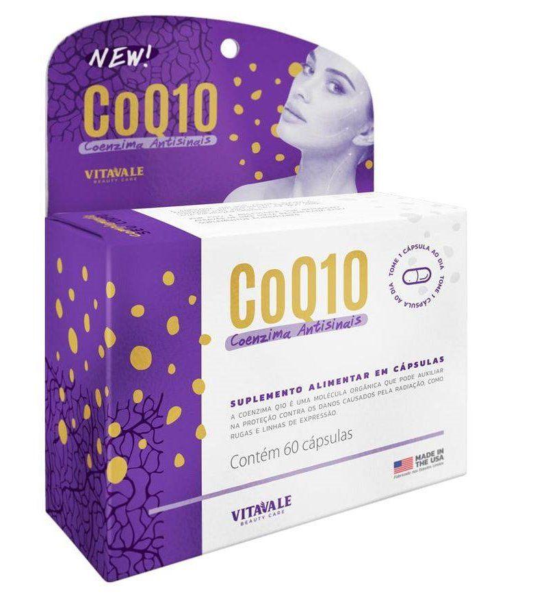 Coenzima CoQ10 100mg Vitavale com 60 cápsulas