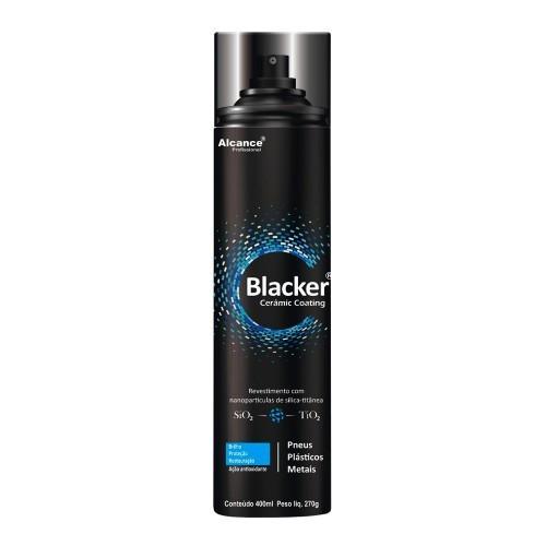BLACKER SELANTE AEROSSOL COM NANOPARTÍCULAS DE SiO2 E TiO2 PARA PNEUS, PLÁSTICOS E METAIS 400ML ALCANCE