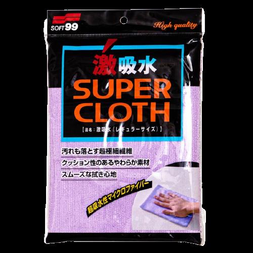 TOALHA DE MICROFIBRA SUPER CLOTH ALTA ABSORÇÃO 30X50CM SOFT99