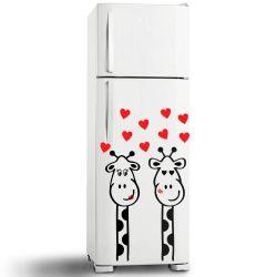 Adesivo de Geladeira Girafa in Love