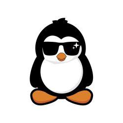 Adesivo de Geladeira Pinguim com Óculos