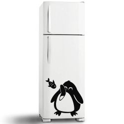 Adesivo de Geladeira Pinguim Comendo