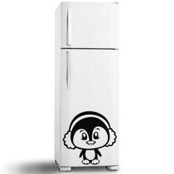 Adesivo de Geladeira Pinguim Cute
