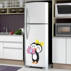 Adesivo de Geladeira Pinguim Fotografo