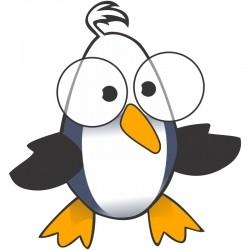 Adesivo de Geladeira Pinguim intelectual