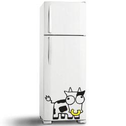 Adesivo de Geladeira Vaca Louca