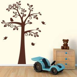 Adesivo de Parede Árvore Corujas