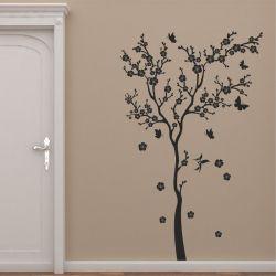 Adesivo de Parede Árvore flores