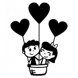 Adesivo de Parede Balão do Amor