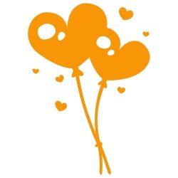 Adesivo de Parede Balões Coração