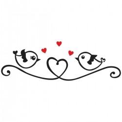 Adesivo de Parede Birds Heart