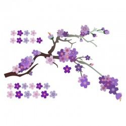 Adesivo de Parede Blossom Roxo
