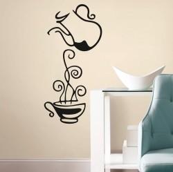 Adesivo de Parede Bule de café